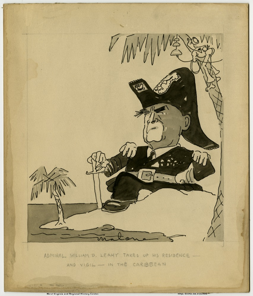 (Admiral William D. Leahy takes up his residence--and vigil--in the Caribbean.)