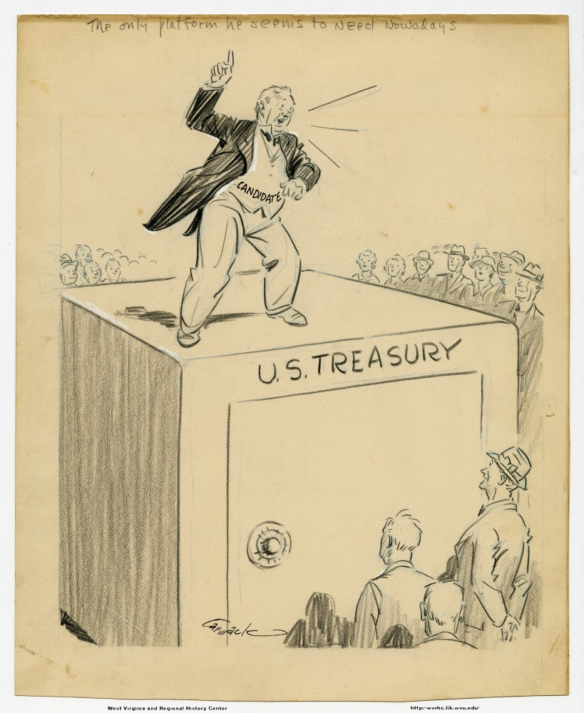 (The only platform he seems to need nowadays.) (candidate) (U.S. Treasury)