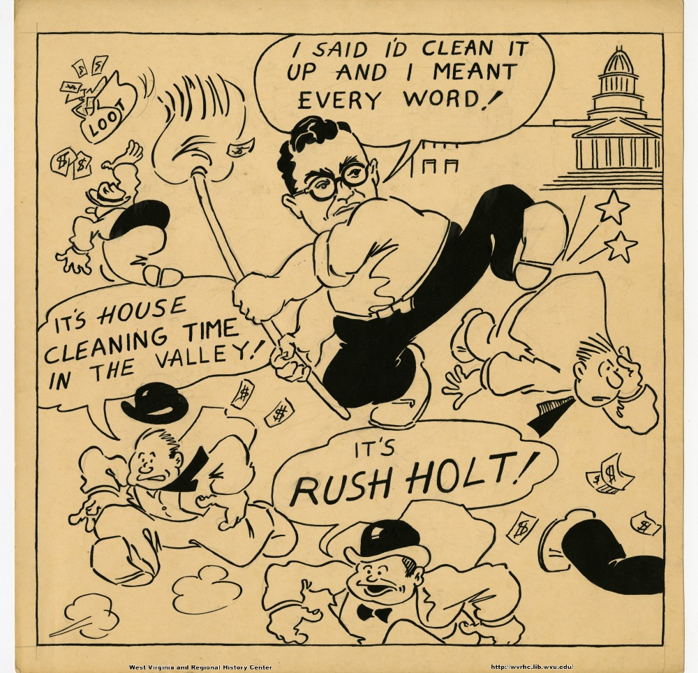 "(Loot) ""I said I'd clean it up and I meant every word!"" ""It's house cleaning time in the valley!"" ""It's Rush Holt!"""