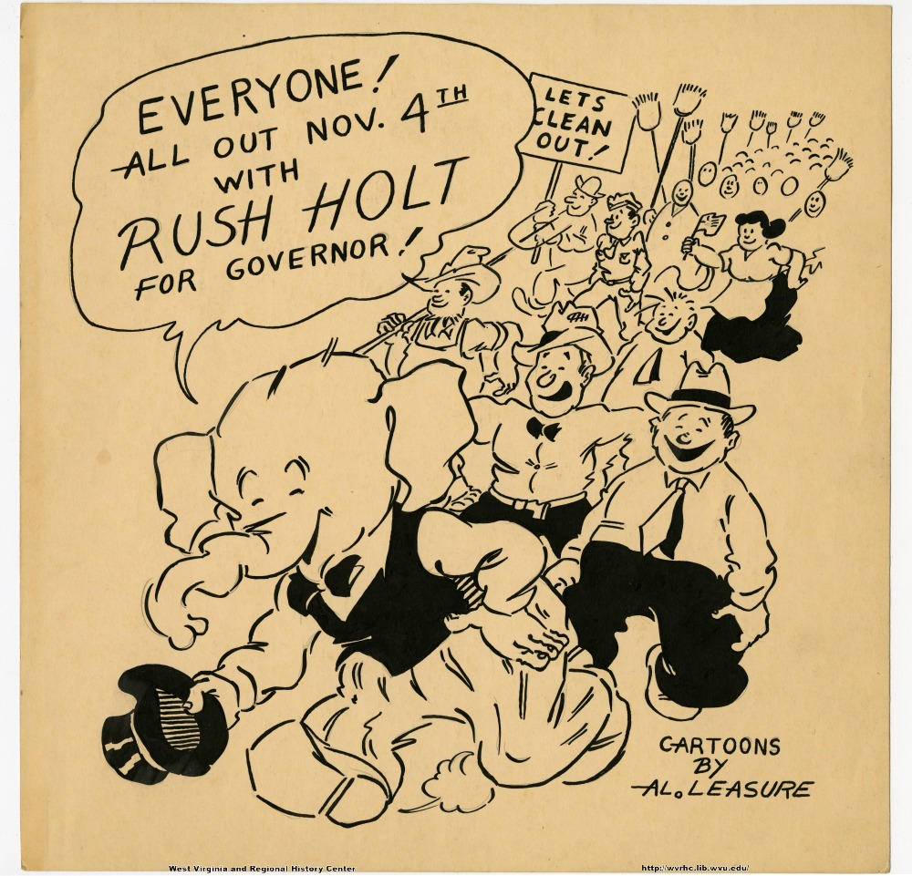 """Everyone!  All out Nov. 4th with Rush Holt for Governor!"" ""Let's clean out!"""